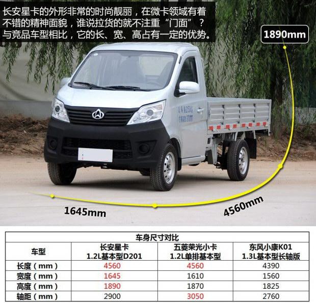 海马商用长安汽车长安星卡2013款1.2l基本型d201长安3会突然死火图片