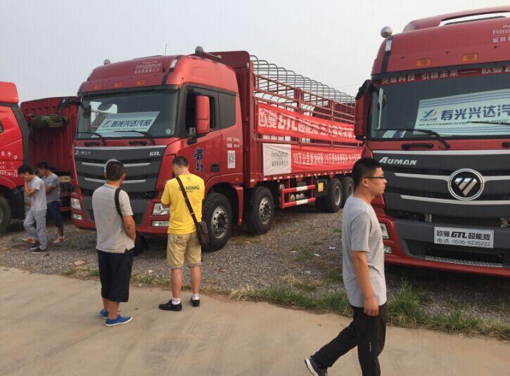 欧曼 前四后八 国三排放 310马力 柴油 20吨以上 载货汽车货车 bj1313图片