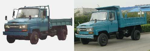 川路牌CGC5820CD3型自卸低速货车