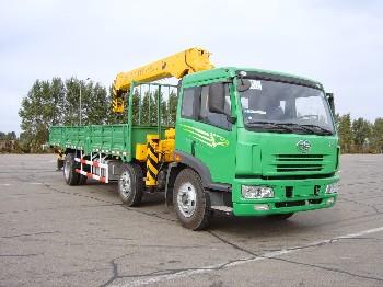 春圆牌DCY5253JSQ型随车起重运输车