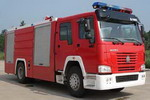 海盾牌JDX5190GXFSG80型水罐消防车