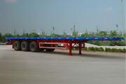 驰航牌CCJ9400TJZP型平板式集装箱半挂车图片