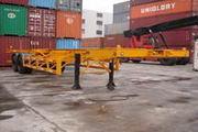 常春宇创牌FCC9350TJZ型骨架式集装箱半挂车图片