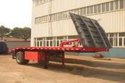 速通6.9米14吨1轴平板半挂车(PDZ9180P)
