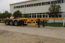 青特12.3米33吨3轴集装箱运输半挂车(QDT9400TJZG)