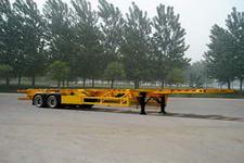 骏王牌WJM9351TJZG型集装箱运输半挂车