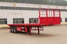 粱锋12.5米34.5吨3轴平板运输半挂车(YL9401TPB)