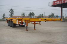 巨麟牌JJL9400TJZ型集装箱运输半挂车图片
