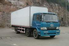 柳特神力牌LZT5166XXYPK2E3L4T3A95型平头厢式运输车图片