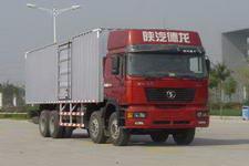 陕汽重卡国三前四后八厢式运输车336-385马力10-15吨(SX5265XXYNT456)