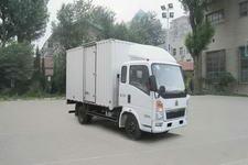 重汽HOWO轻卡国四单桥厢式运输车99-116马力5吨以下(ZZ5047XXYD3414D145)