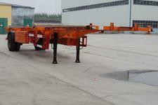 中梁宝华12.4米12吨1轴空载集装箱运输半挂车(YDA9150TJZ)