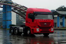 红岩后双桥,后八轮集装箱半挂牵引车340马力(CQ4254HTVG324C)