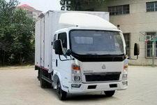 重汽HOWO轻卡国四单桥厢式运输车87-95马力5吨以下(ZZ5047XXYC3414D143)