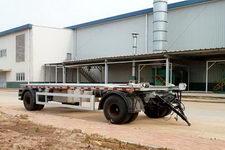 青专牌QDZ9180ZXX型车厢可卸式垃圾牵引杆挂车图片