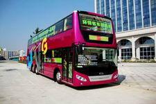 五洲龙牌FDG6120HEVS型混合动力双层城市客车图片