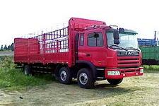 江淮格尔发国三前四后四仓栅式运输车220-256马力15-20吨(HFC5245CCYK3R1LT)
