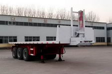 粱锋9.5米32吨3轴平板自卸半挂车(LYL9400ZZXP)