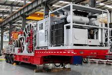 科瑞牌KRT9570TLG型连续油管作业半挂车图片