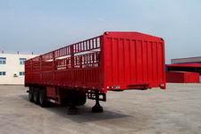 鸿天牛牌HTN9390CLXY型仓栅式运输半挂车图片
