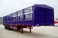 鸿天牛牌HTN9381CLXY型仓栅式运输半挂车图片