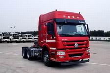 豪沃牌ZZ4257N3247D1HM型甲醇/柴油双燃料牵引汽车图片