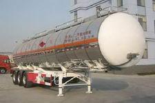 金皖12.5米33吨3轴铝合金易燃液体罐式运输半挂车(LXQ9401GRY)