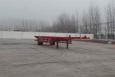 坤博12.5米12吨1轴空载集装箱运输半挂车(LKB9150TJZ)