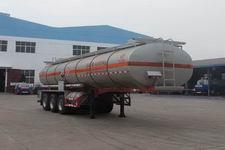 程力威牌CLW9406GFW型腐蚀性物品罐式运输半挂车