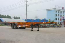 程力威牌CLW9350TJZG型集装箱运输半挂车
