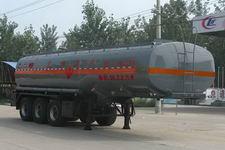 程力威9.7米32吨3轴易燃液体罐式运输半挂车(CLW9406GRY)