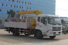 程力威牌CLW5160JSQD4型随车起重运输车