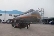 程力威9.5米32吨3轴腐蚀性物品罐式运输半挂车(CLW9405GFW)