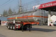 程力威10.6米30.5吨3轴化工液体运输半挂车(CLW9400GHYA)