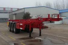 腾运10.2米34.5吨3轴危险品罐箱骨架运输半挂车(LLT9401TWY)