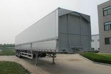 丛林牌LCL9400XYK型铝合金翼开启厢式半挂车图片