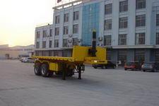 中梁宝华7.7米28吨2轴平板自卸半挂车(YDA9350ZZXP)