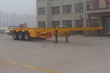 坤博12.5米34.2吨3轴危险品罐箱骨架运输半挂车(LKB9400TWY)