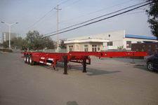红宇15米34.2吨3轴危险品罐箱骨架运输半挂车(HYJ9401TWY)