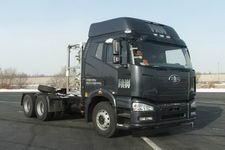 解放牌CA4250P66T1A1E24M4X型集装箱天然气半挂牵引汽车图片