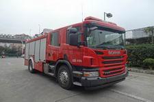 中卓时代牌ZXF5180GXFSG60/S型水罐消防车
