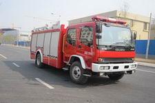 中卓时代牌ZXF5160GXFSG50/W型水罐消防车