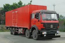 北奔重卡国四前四后八厢式运输车271-301马力15-20吨(ND5310XXYZ07)