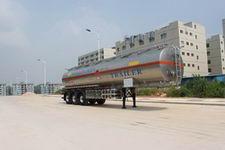 港粤12.5米33.4吨3轴铝合金易燃液体罐式运输半挂车(HSD9403GRY)
