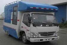 金杯售貨車左側開窗箱體尺寸3.7x1.8x1.9帶吧臺外接電源流動餐車的報價