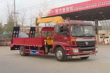 欧曼平板带5吨随车起重运输车