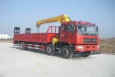 楚风小三轴HQG5258JSQGD4平板带吊运输车