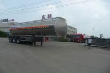 特运牌DTA9400GSY型铝合金食用油运输半挂车图片