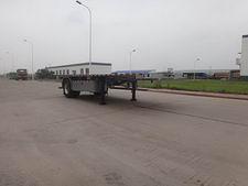 青专7.1米10吨1轴平板运输半挂车(QDZ9130TPB)
