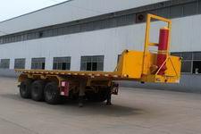 通勤8米32.9吨3轴平板自卸半挂车(TDG9400ZZXP)